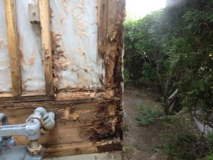home repairs, rotted corner post