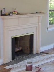 Custom built fireplace mantel