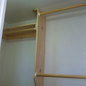 sheetrock repair closet shelves