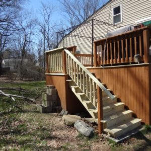 Deck repair, new stairs and railings