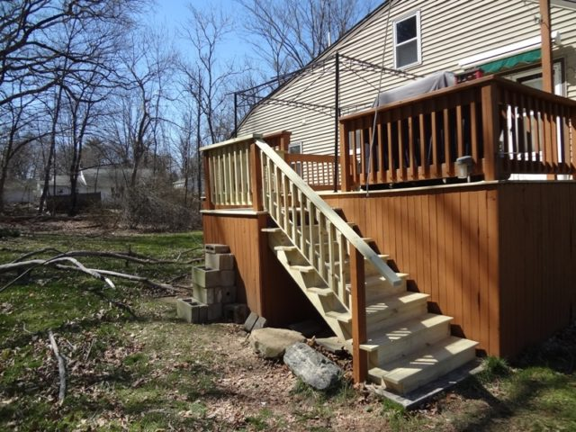 Deck repair, new stairs and railings