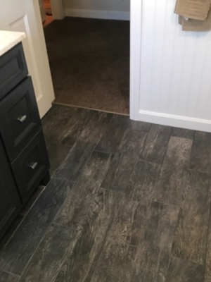 Bathroom Tile Floor Plank