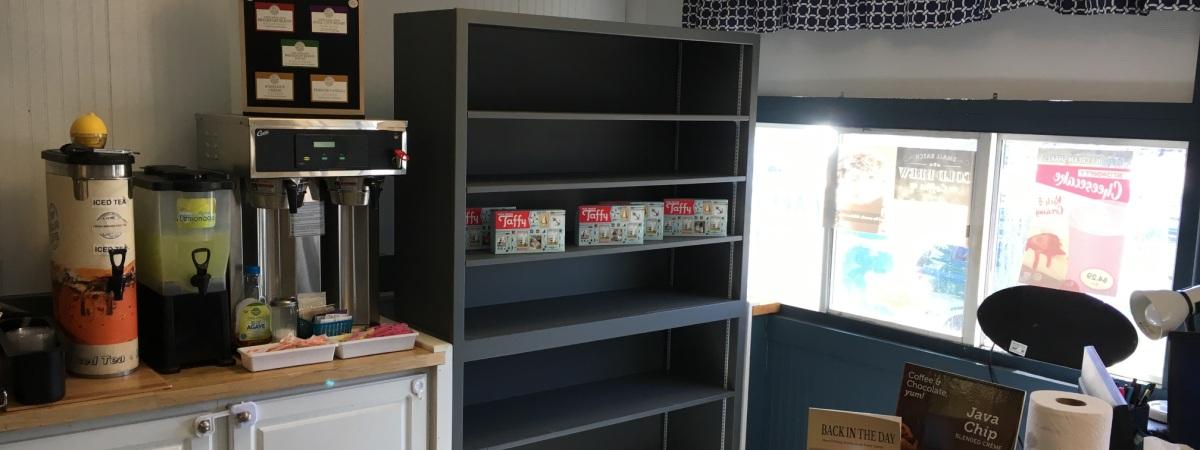 Custom built adjustable shelves